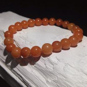 Bracelet billes Aventurine Orange