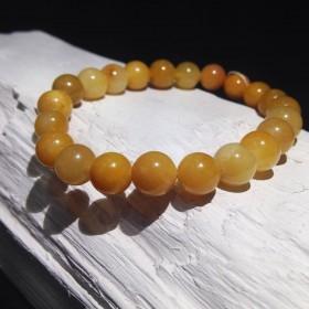 Bracelet billes Quartz Jaune