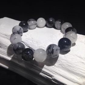 Bracelet billes Quartz Tourmaline