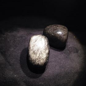 Pierres polies Obsidienne Argentée