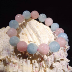Bracelet Aigue Marine et Morganite