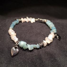 Bracelet Aventurine et Pierre de Lune