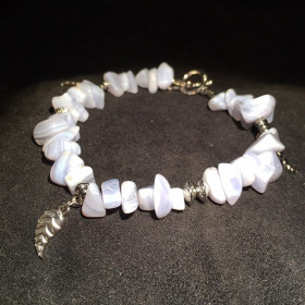 Bracelet en Calcédoine