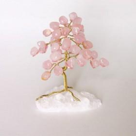 Arbre de vie en quartz rose