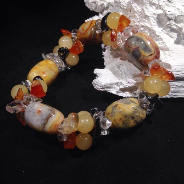 Bracelet Agate Crazy Lace et Multi Pierres