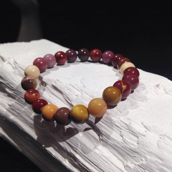 Bracelet billes Mokaïte